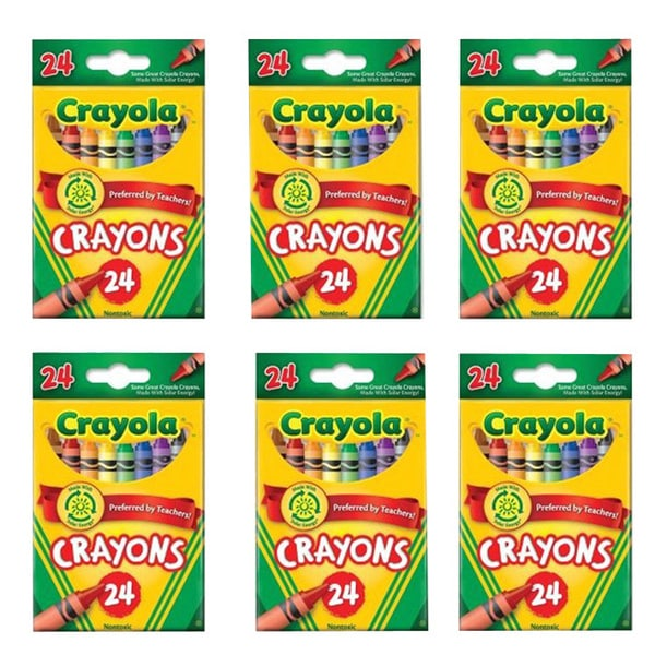 shop crayola peggable 24 count crayons pack of 6 ships to canada