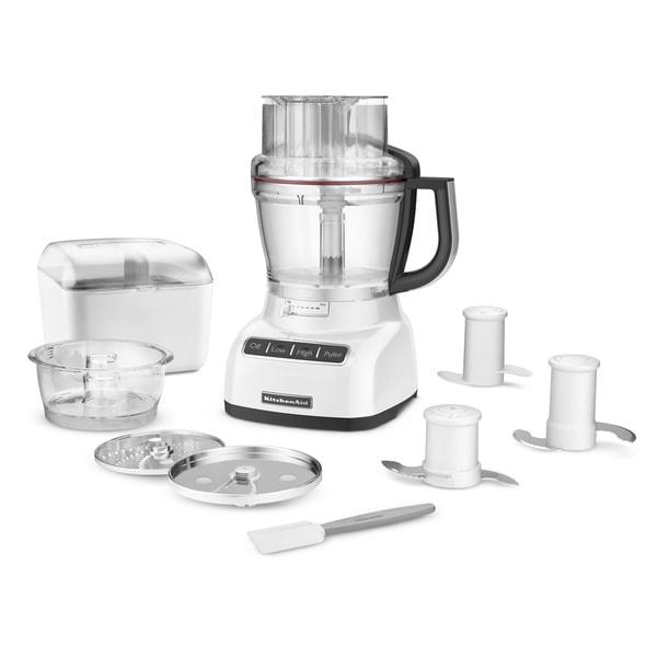 KitchenAid KFP1333WH White 13-cup ExactSlice Food Processor