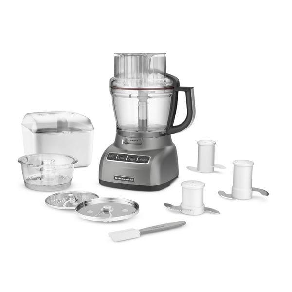shop kitchenaid kfp1333cu contour silver 13 cup exactslice food rh overstock com
