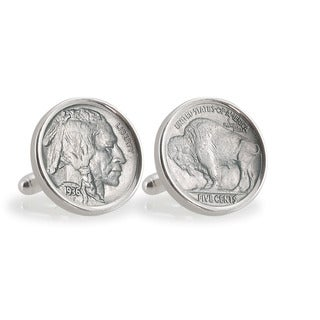 American Coin Treasures Sterling Silver Buffalo Nickel Cuff Links
