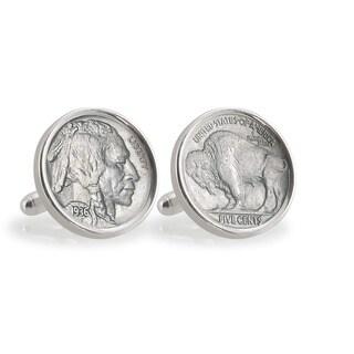 American Coin Treasures Sterling Silver Buffalo Nickel Cuff Links