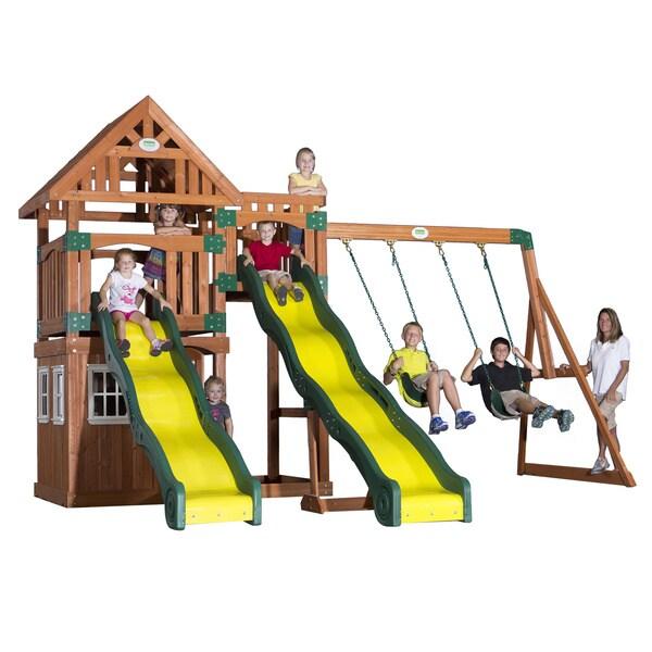 Shop Backyard Discovery Journey All Cedar Swingset - Free ...
