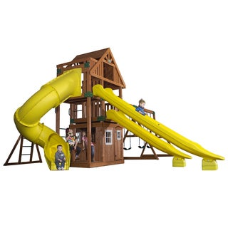 Backyard Discovery Traverse All Cedar Swingset