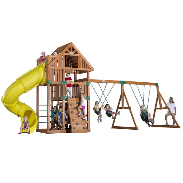 Backyard Discovery Excursion Cedar Swingset