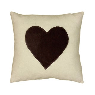 LNR Home Grey/ White Valentine 18-inch Accent Throw Pillow