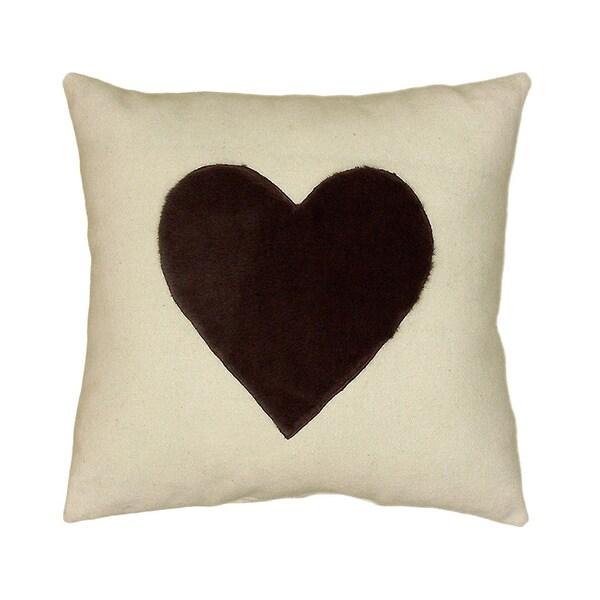 LR Home Grey/ White Valentine 18-inch Accent Throw Pillow