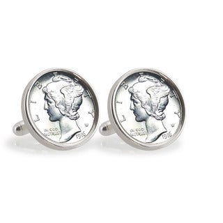 American Coin Treasures Silver Mercury Dime Sterling Silver Cuff Links|https://ak1.ostkcdn.com/images/products/8591186/American-Coin-Treasures-Silver-Mercury-Dime-Sterling-Silver-Cuff-Links-P15862613.jpg?_ostk_perf_=percv&impolicy=medium