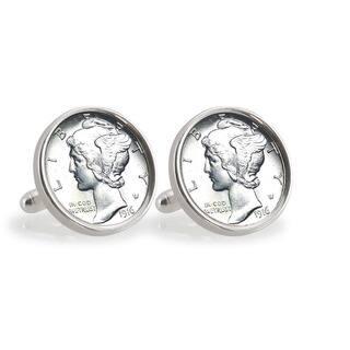 American Coin Treasures Silver Mercury Dime Sterling Silver Cuff Links|https://ak1.ostkcdn.com/images/products/8591186/American-Coin-Treasures-Silver-Mercury-Dime-Sterling-Silver-Cuff-Links-P15862613.jpg?impolicy=medium