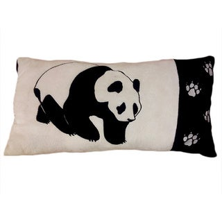 LNR Home Black/ White Panda 16 x 24 Accent Throw Pillow