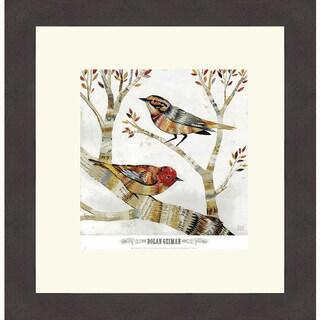 Dolan Geiman 'Warblers I' Framed Art Print