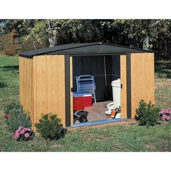 Arrow woodlake 8 x 6 foot storage shed free shipping for Garden shed 8 x 6