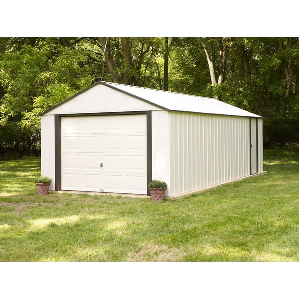 Arrow vinyl murryhill 12 x 10 foot storage building free for Garden shed 12x10