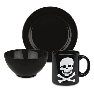 Waechtersbach Black Skull 3-piece Breakfast Set