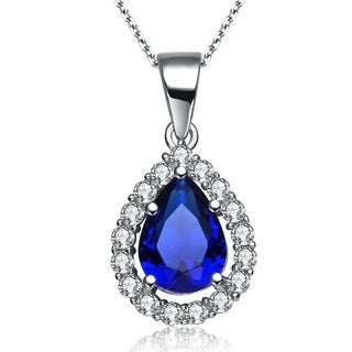 Collette Z Sterling Silver Cubic Zirconia Pear-shape Necklace