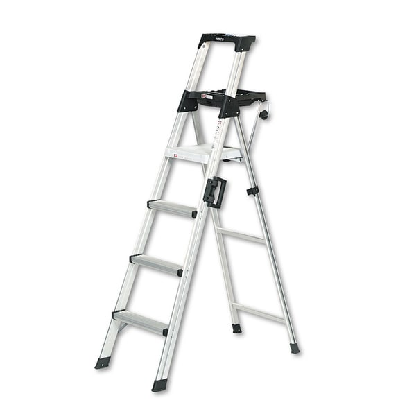 shop cosco signature series 6 foot premium aluminum step ladder on sale free shipping today. Black Bedroom Furniture Sets. Home Design Ideas