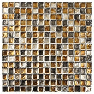 SomerTile 12x12-inch Illuminia Square Radium Glass Mosaic Wall Tile (Case of 10)