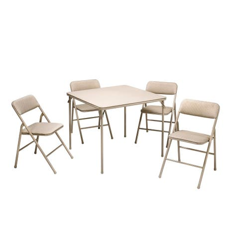 Cosco Folding Table and 5-piece Chairs Set - 5 piece