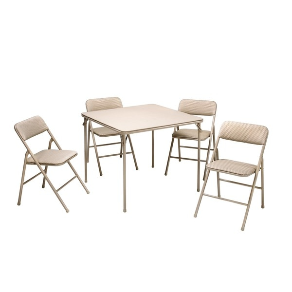 Cosco Folding Table and 5-piece Chairs Set - 5 piece. Opens flyout.