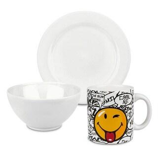 Waechtersbach Smiley White 3-piece Breakfast Set