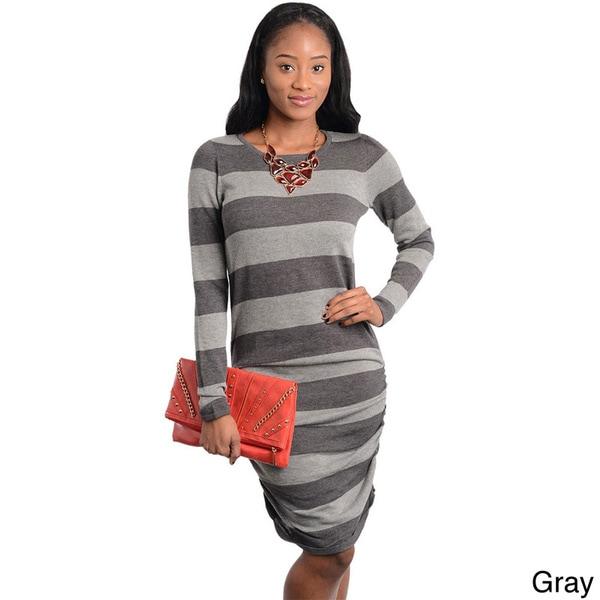 3bcd6ebc868 Shop Stanzino Women s Long Sleeve Knee-length Sweater Dress - Free ...