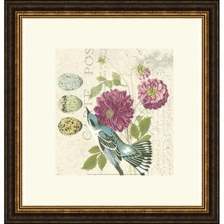 Paula Scaletta 'Bird Study 4' Framed Art Print