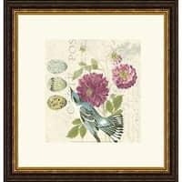 Paula Scaletta 'Bird Study 4' Framed Art Print