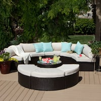 Deals on Havenside Home Isla 9-piece Outdoor Sectional