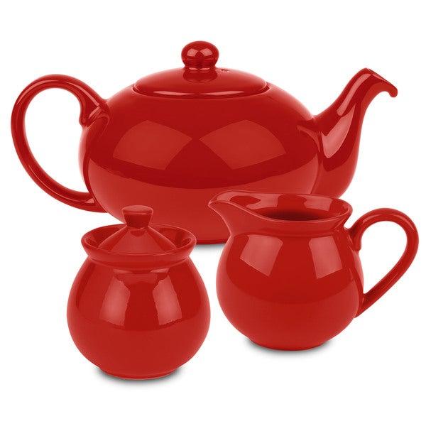 Waechtersbach Red Tea Set