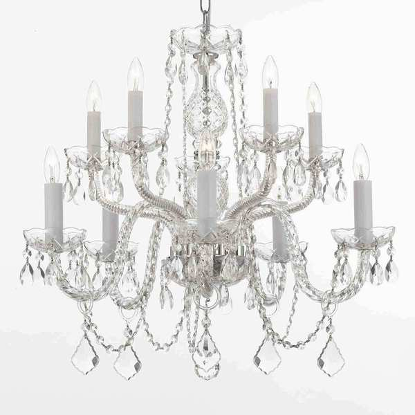Gallery All Crystal 10 Light Silver Chandelier