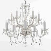 Gallery 10-light All Crystal Silver Chandelier
