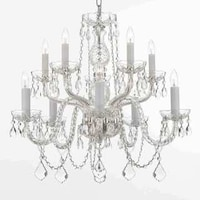 Shop gallery venetian style all crystal 12 light chandelier free gallery 10 light all crystal silver chandelier aloadofball Choice Image