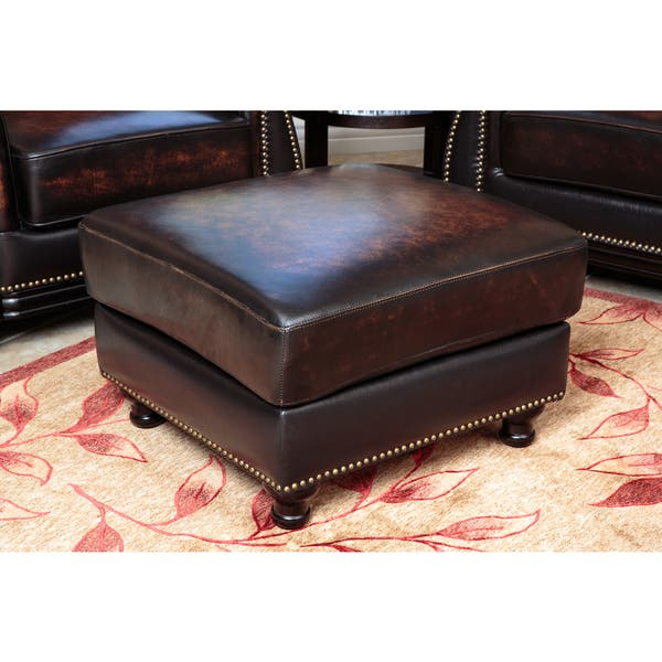Superb Shop Palermo Hand Rubbed Brown Leather Sofa Loveseat Gmtry Best Dining Table And Chair Ideas Images Gmtryco