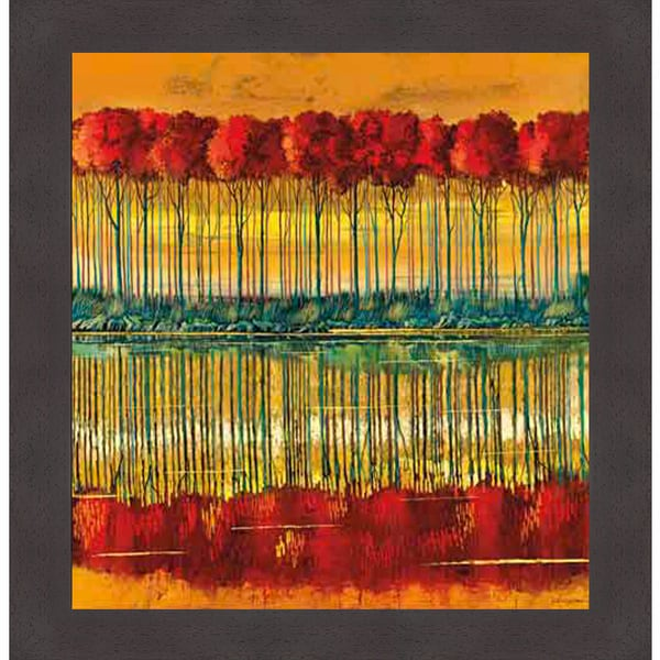 Ford Smith Canvas: Shop Ford Smith 'Amber Reception' Framed Art Print