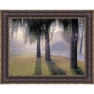 Steven Mitchell 'Misty Bridge' Framed Art Print