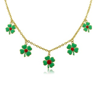Junior Jewels Children's Enamel 4 Leaf Clover Necklace