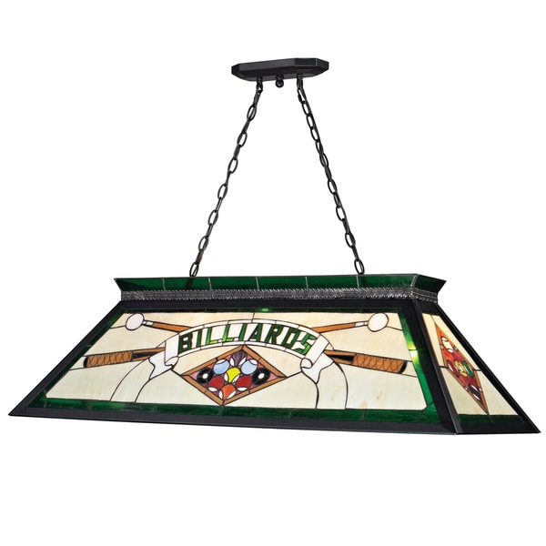 Budweiser 40 Inch Stained Glass Pool Table Light: Shop Z-Lite 4-light Billiard Light