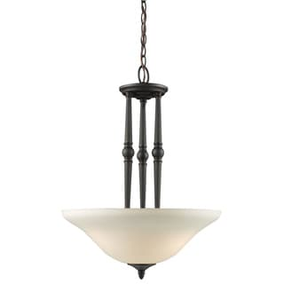Z-Lite 3-light Frosted-glass Pendant