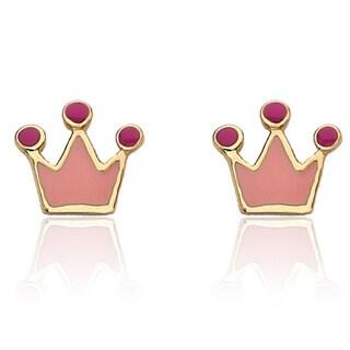 Little Miss Twin Stars Children's 14k Goldplated Rocking Royalty Earrings