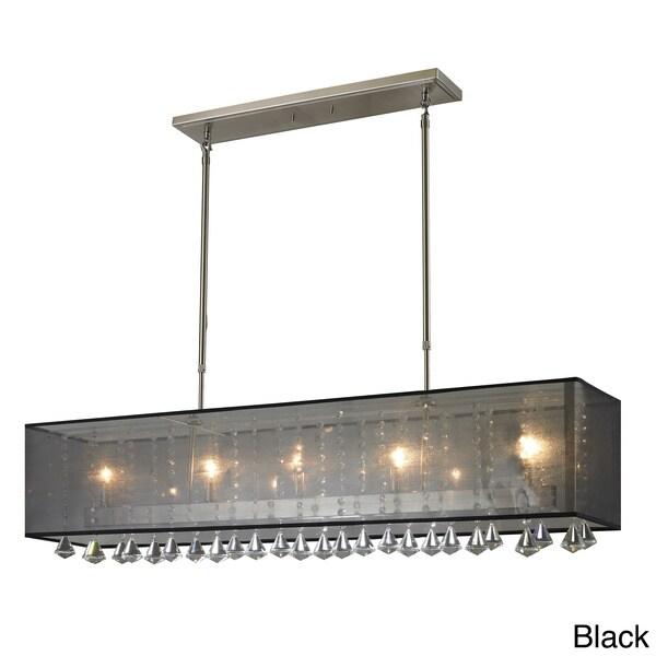 Shop Z Lite 5 Light Brushed Nickel Island Billiard Light