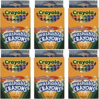 Crayola Washable 16-count Crayons (Pack of 6)
