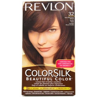 Revlon ColorSilk Beautiful Color #32 Dark Mahogany Brown Hair Color (1 Application)