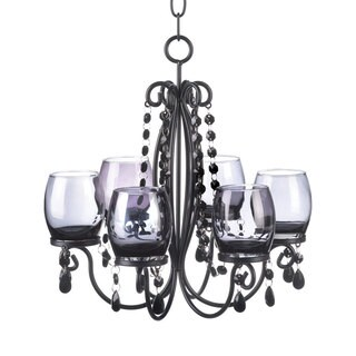 Midnight Elegance Candle Chandelier Centerpiece