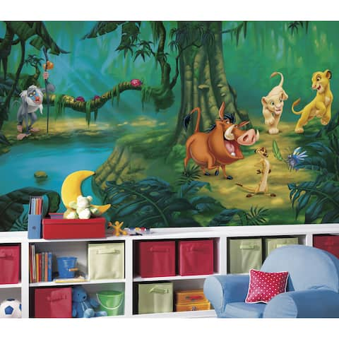 Lion King Chair Rail Pre-pasted Mural (6'x10.5')