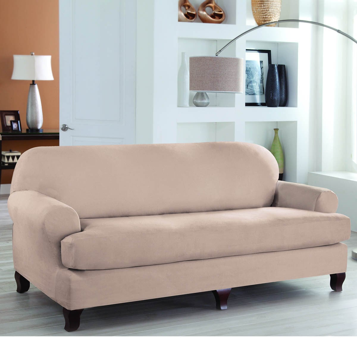 Details about Tailor Fit Stretch Fit 2 Piece Sofa Slipcover