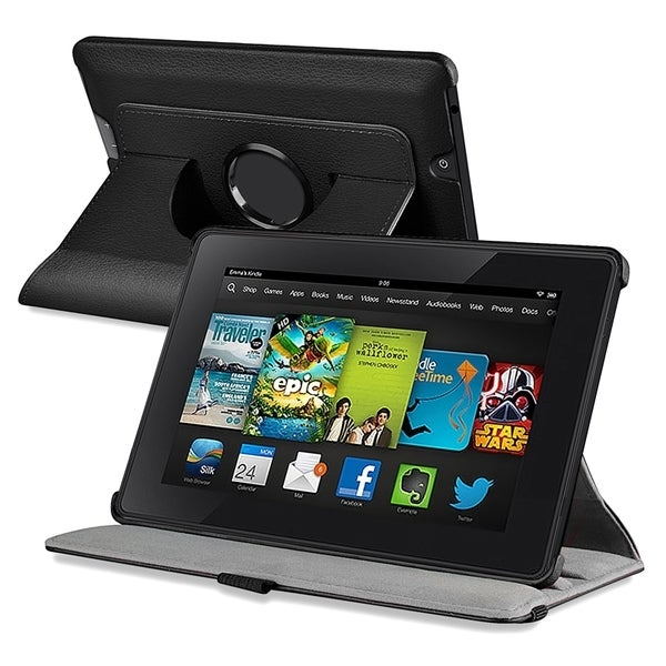 INSTEN Swivel Stand Leather Phone Case Cover for Amazon Kindle Fire HD 7-inch