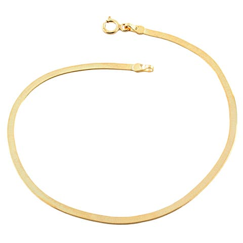 Fremada 10k Yellow Gold 2.15-mm Herringbone Bracelet (7.5 inch)