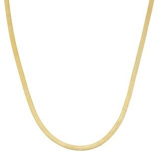 Fremada 10k Yellow Gold 1.9-mm Herringbone Necklace (18-20-inch)
