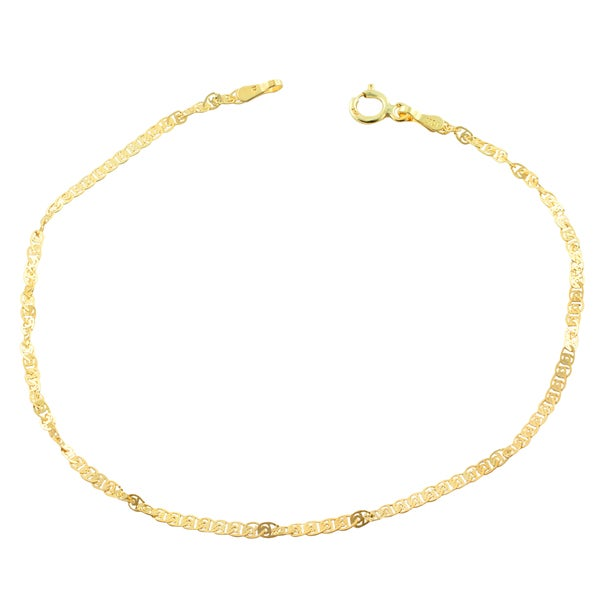 Fremada 10k Yellow Gold 2-mm Flat Twisted Love Link Bracelet (7.5-inch)