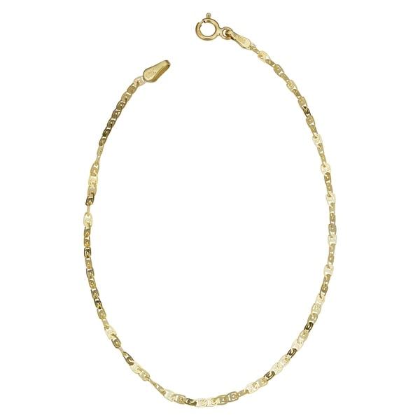 Fremada 10k Yellow Gold 2-mm Flat Twisted Love Link Bracelet (7.5-inch)