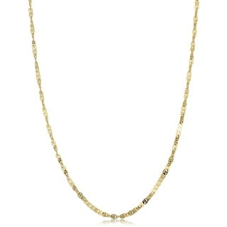Fremada 10k Yellow Gold 1.8-mm Flat Twisted Love Necklace (16 - 20 inches)
